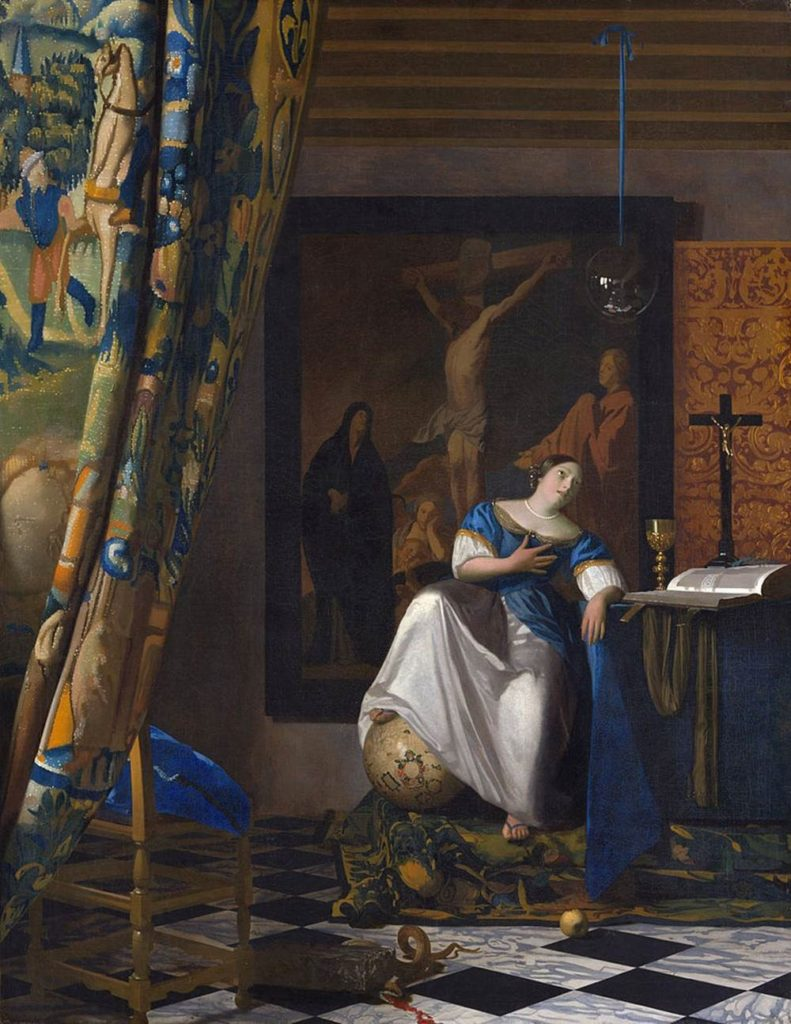 Vermer, Johannes. Allegory of the Catholic Faith. ca. 1670-72. Oil on canvas. The Metropolitan Museum of Art, New York.