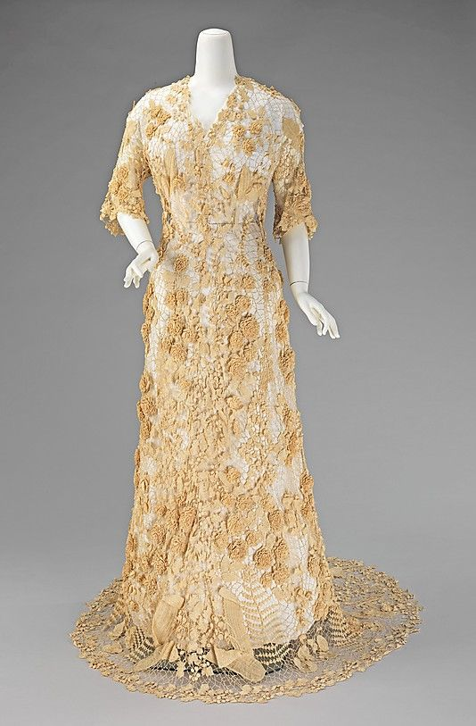 Irish wedding gown circa 1870.
